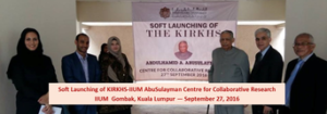 KIRKHS-IIUM Establishes AbdulHamid A. AbuSulayman Centre for Collaborative Research