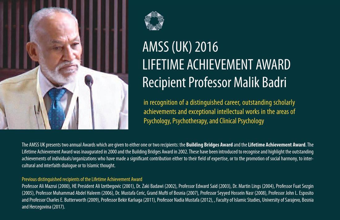Prof. Malik Badri Receives AMSS (UK) Award